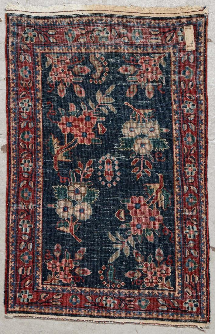West Persian Floral Rug: 1'8'' x 2'8'' (51 x 81 cm) - 6