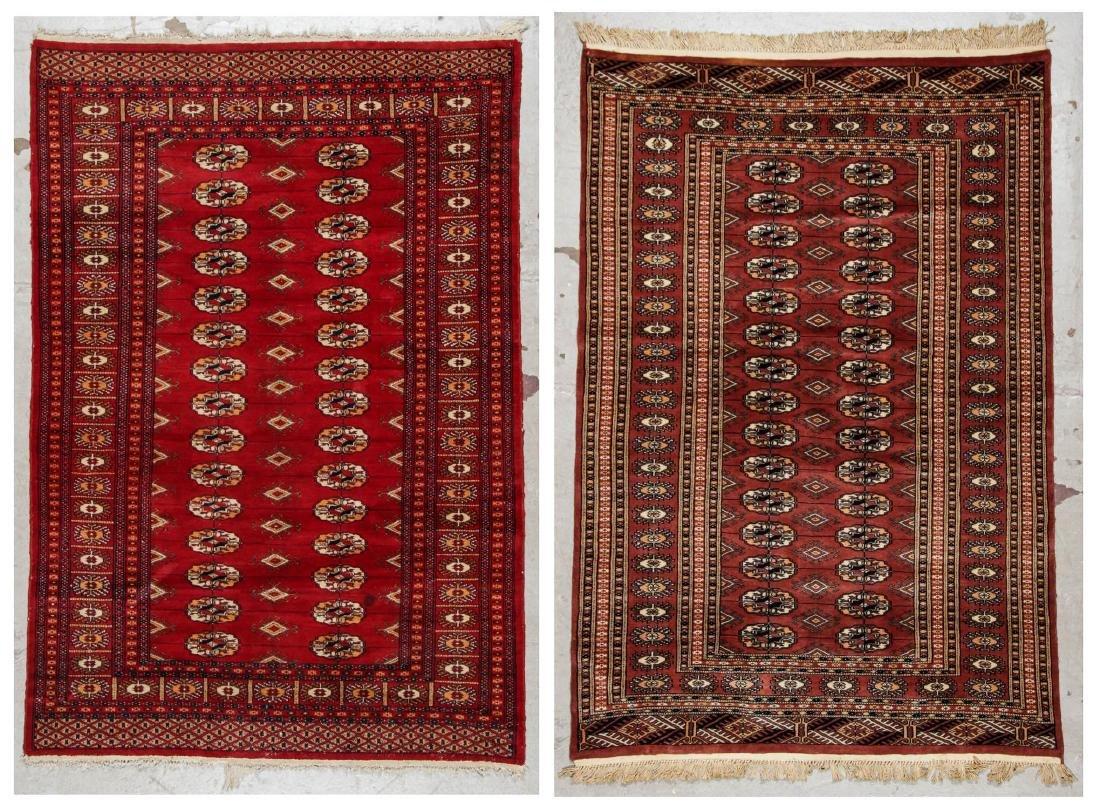 2 Vintage Bokhara Wool Rugs