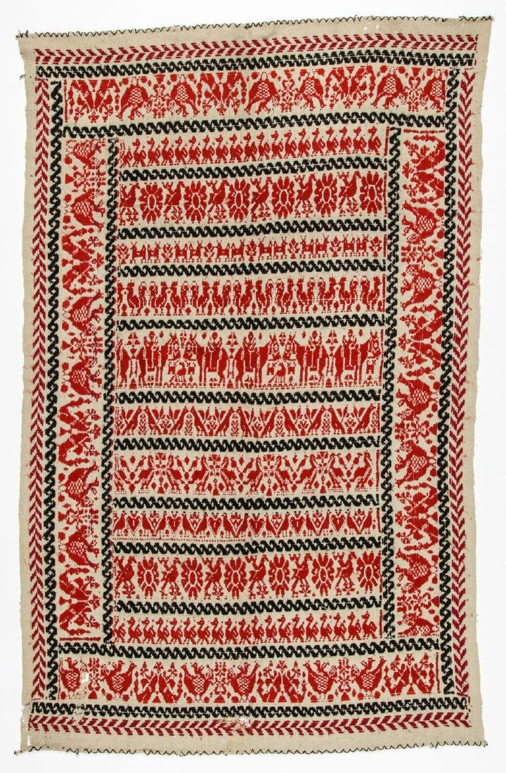 19th C. Italian or Sardinian Folk Tapestry
