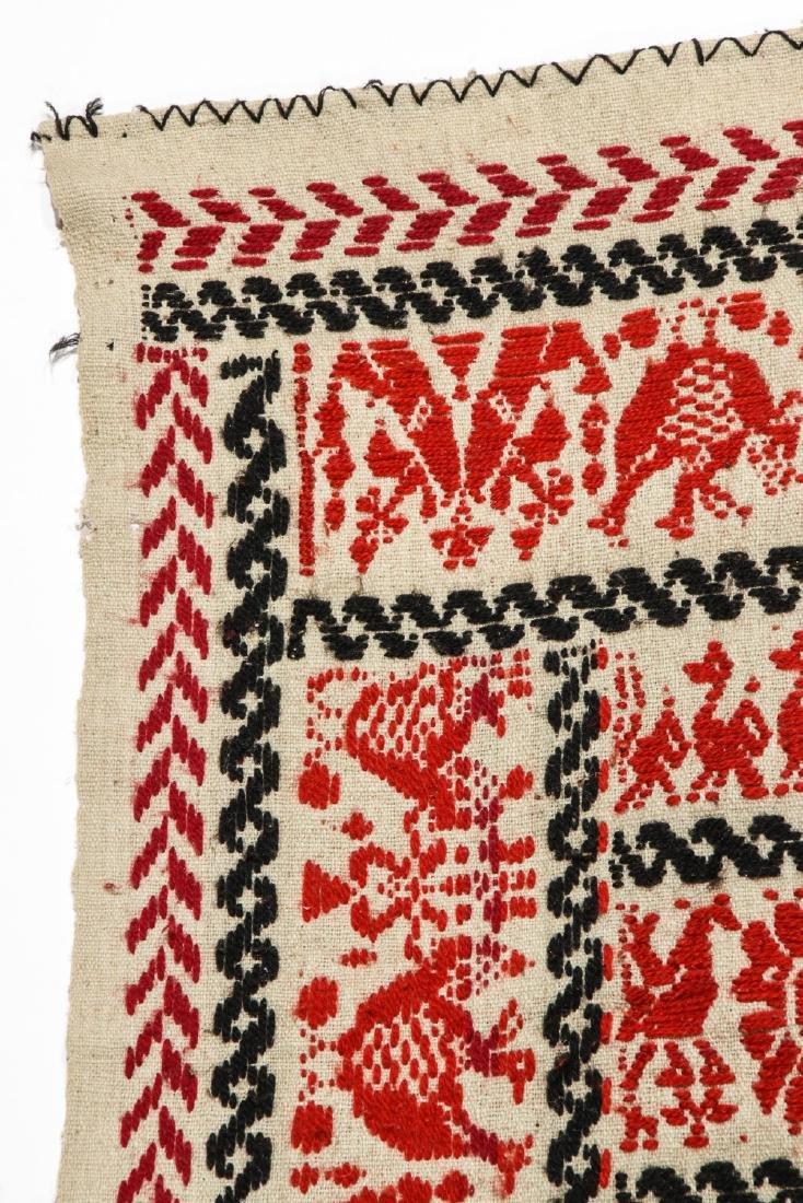 19th C. Italian or Sardinian Folk Tapestry - 3