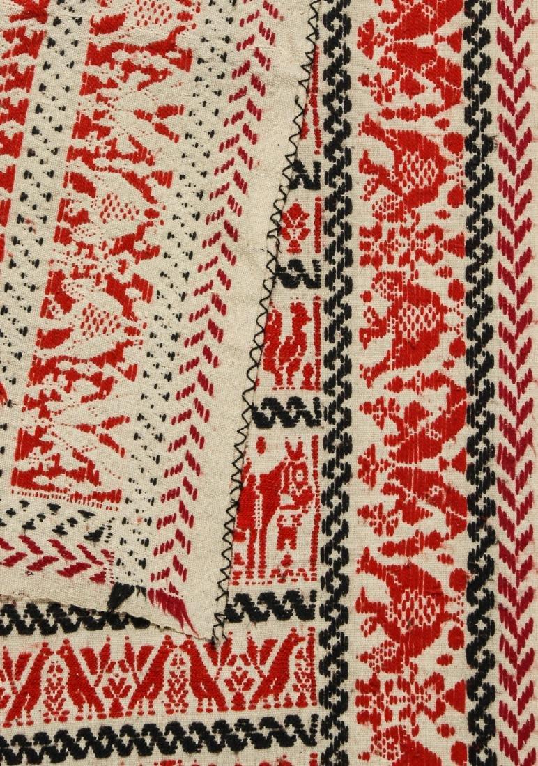19th C. Italian or Sardinian Folk Tapestry - 4