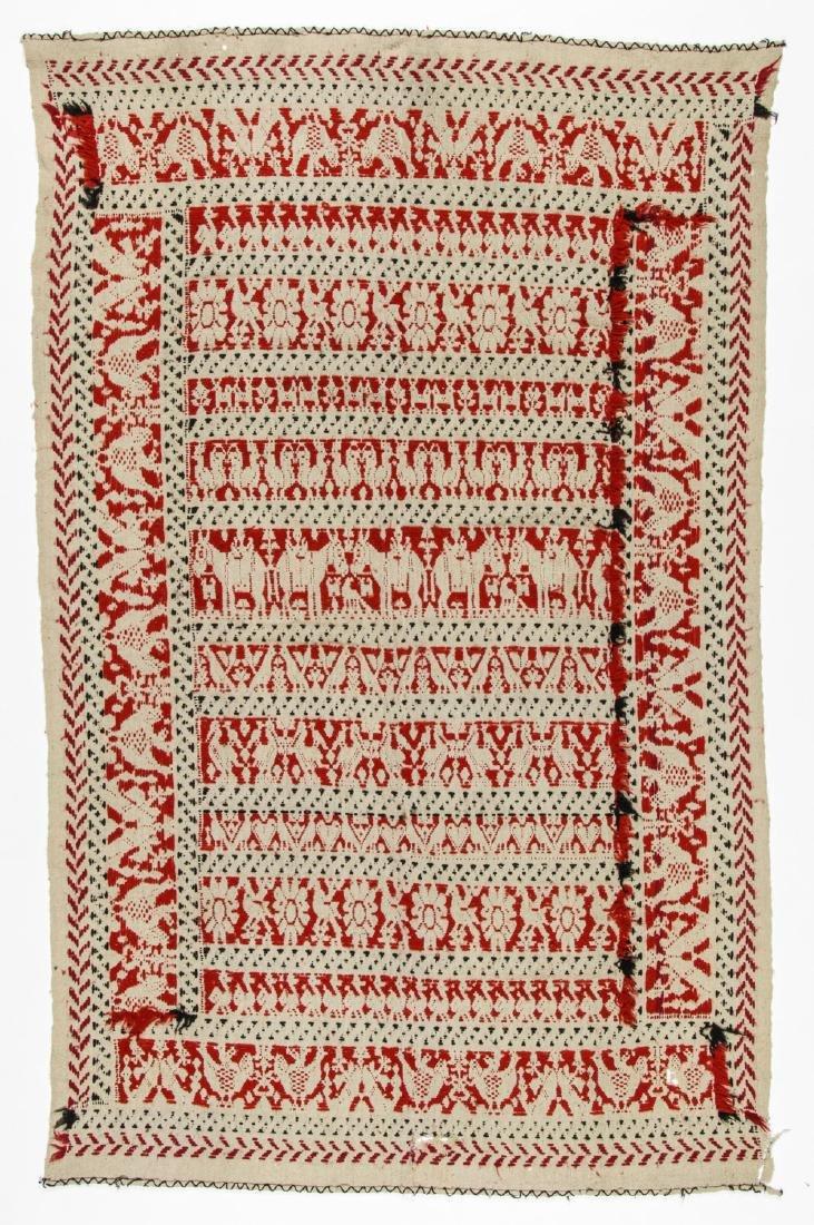 19th C. Italian or Sardinian Folk Tapestry - 5