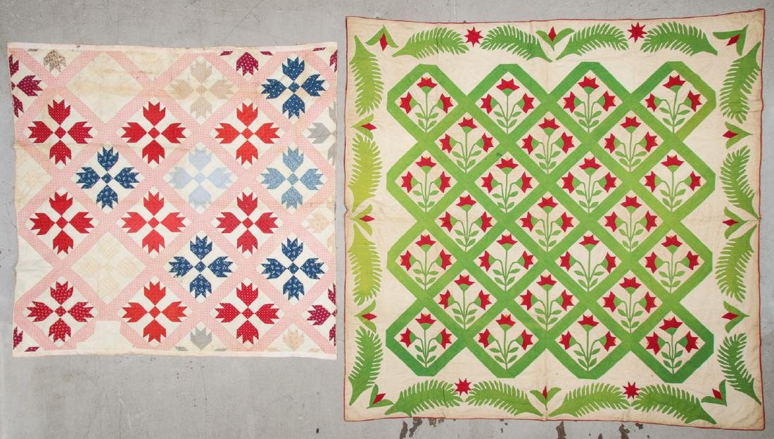 Lot of 2 Early American Quilts
