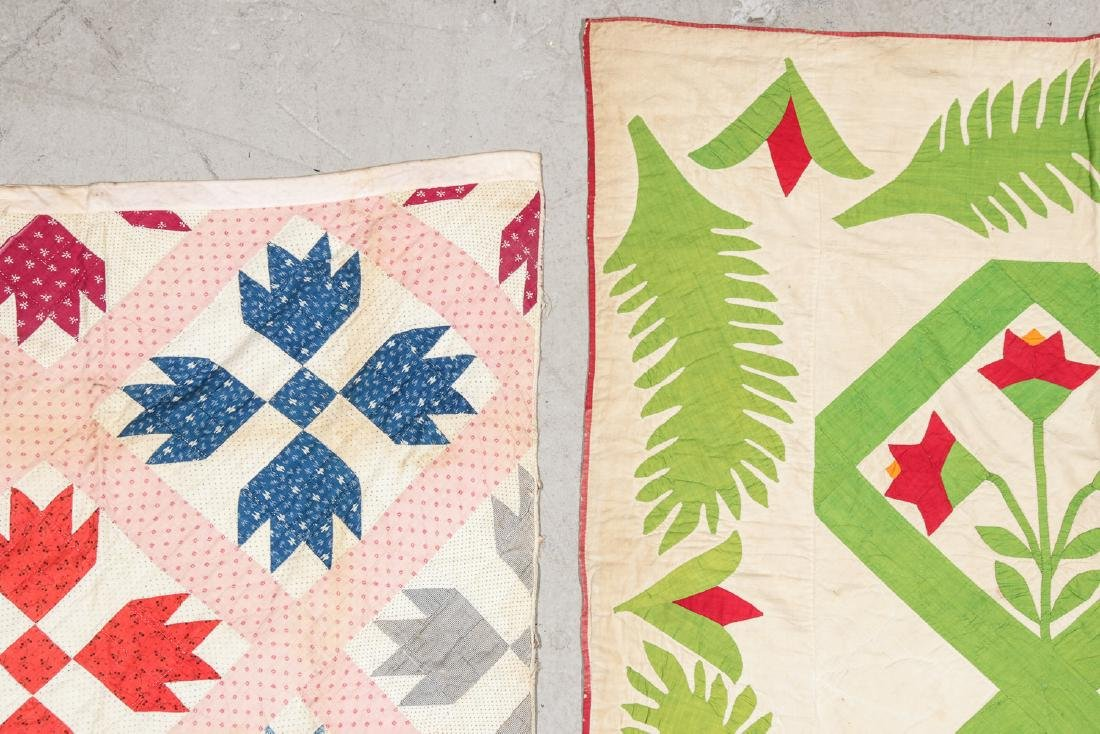 Lot of 2 Early American Quilts - 2