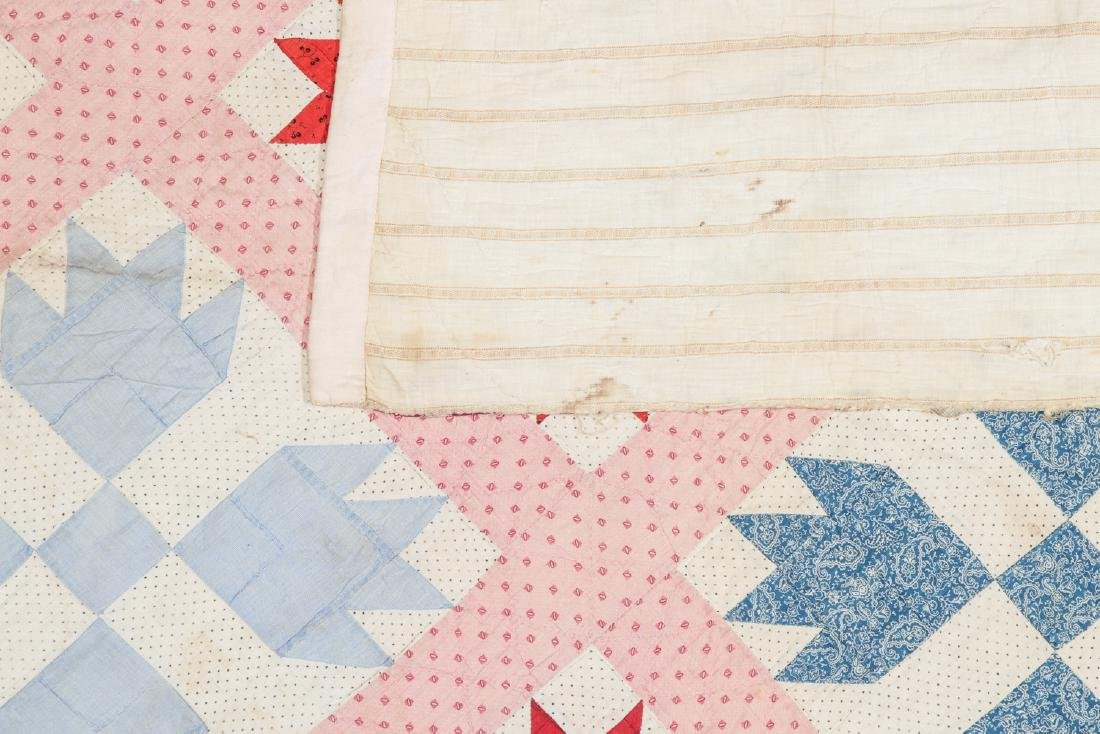 Lot of 2 Early American Quilts - 4