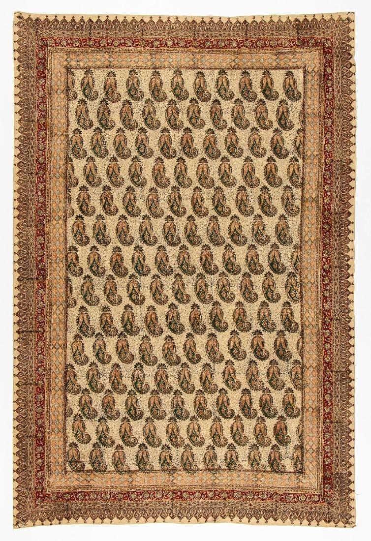 Old Persian Boteh Block Print: 88.5'' x 59''