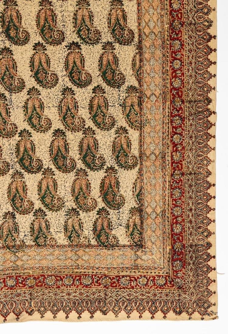 Old Persian Boteh Block Print: 88.5'' x 59'' - 2