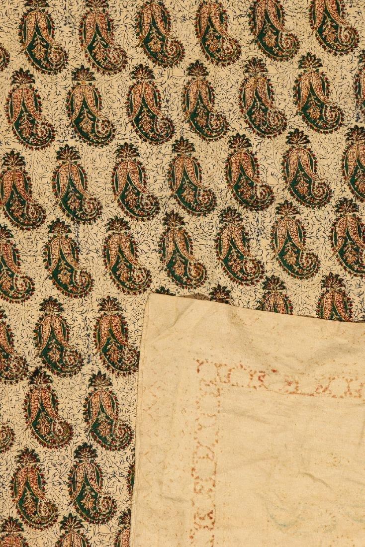 Old Persian Boteh Block Print: 88.5'' x 59'' - 3