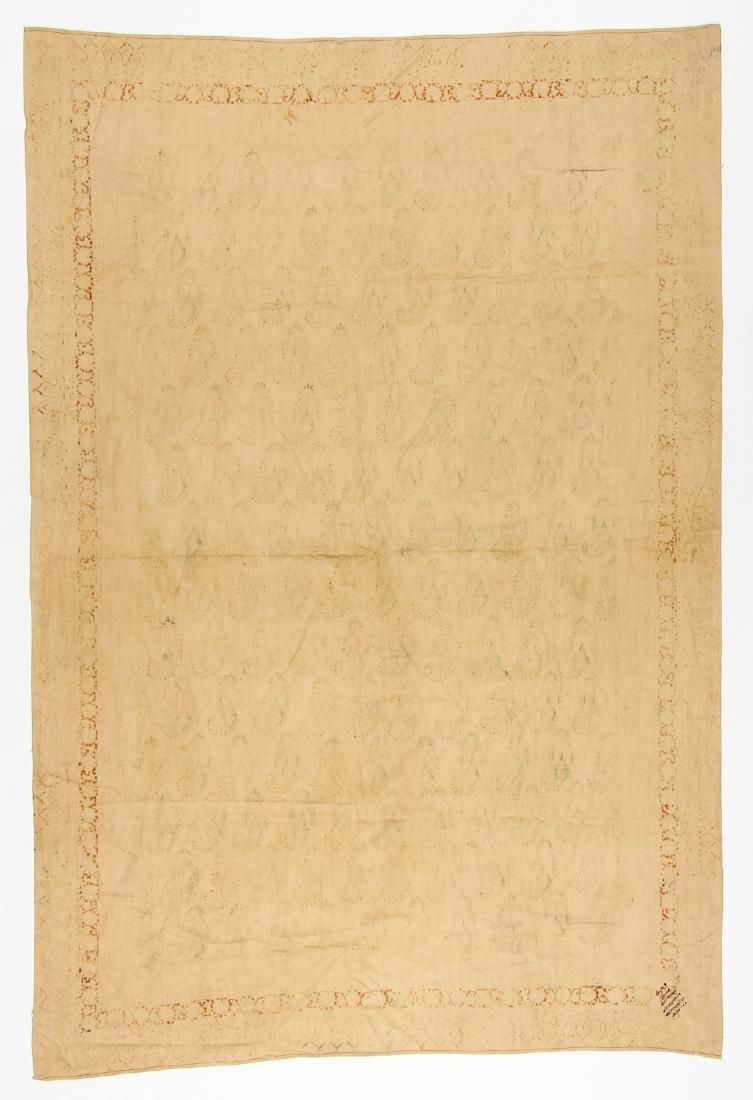 Old Persian Boteh Block Print: 88.5'' x 59'' - 4