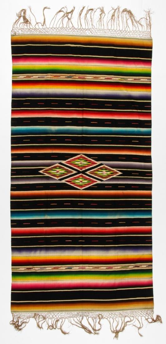Vintage Mexican Saltillo: 88'' x 46'' (224 x 117 cm)