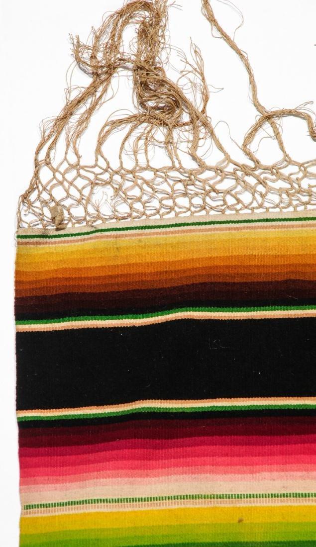 Vintage Mexican Saltillo: 88'' x 46'' (224 x 117 cm) - 2