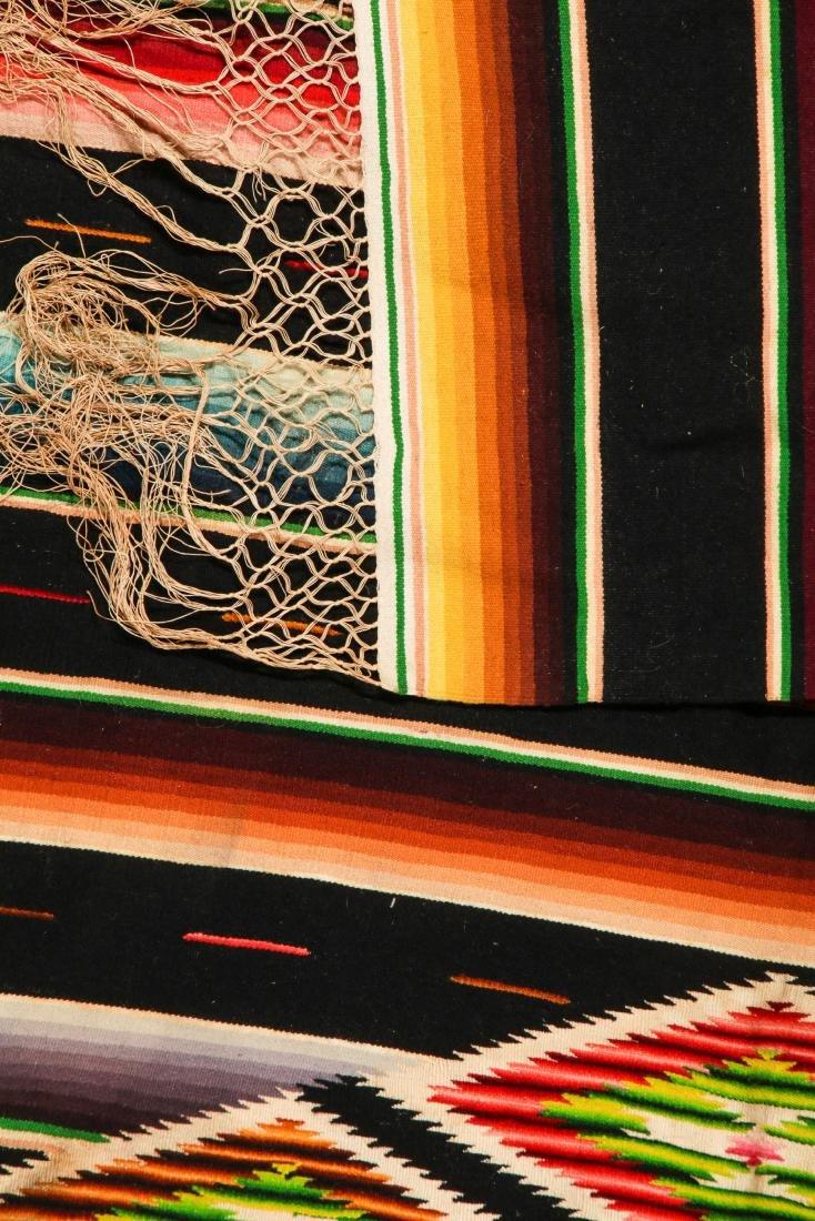 Vintage Mexican Saltillo: 88'' x 46'' (224 x 117 cm) - 3
