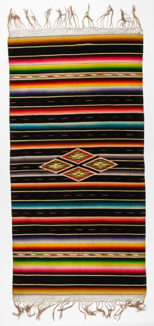 Vintage Mexican Saltillo: 88'' x 46'' (224 x 117 cm) - 4
