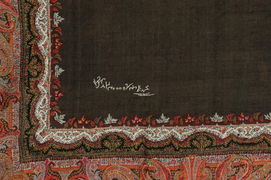 19th C. Kashmir Shawl, India - 4