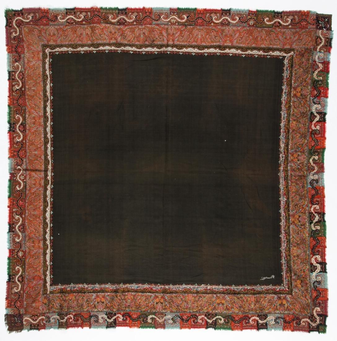 19th C. Kashmir Shawl, India - 5