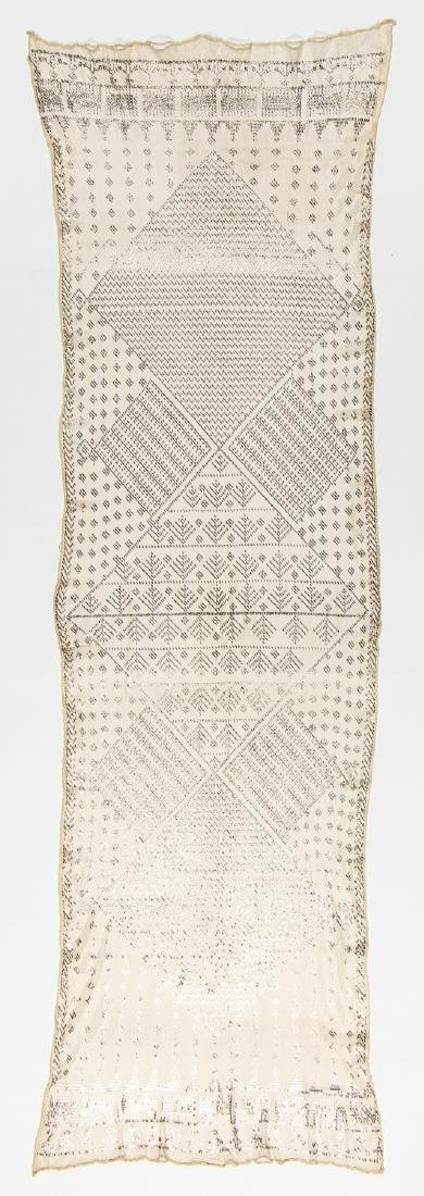 Egyptian Assuit Metal Thread Shawl, Early 20th C.