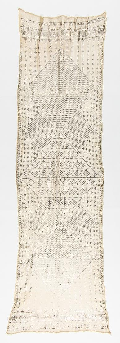 Egyptian Assuit Metal Thread Shawl, Early 20th C. - 3