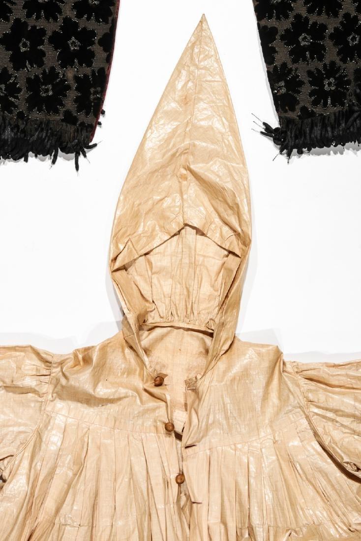 Rare 19th C. Glazed Cotton Rainwear & Woman's Frock - 2
