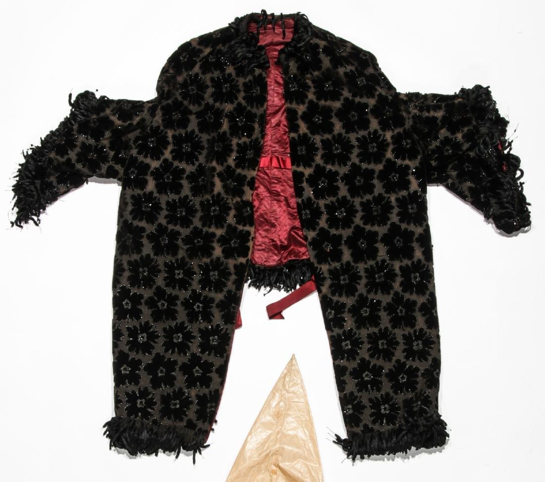 Rare 19th C. Glazed Cotton Rainwear & Woman's Frock - 3