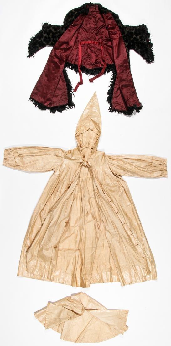 Rare 19th C. Glazed Cotton Rainwear & Woman's Frock - 5