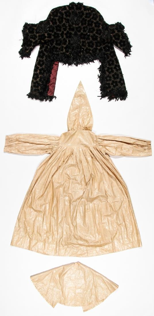 Rare 19th C. Glazed Cotton Rainwear & Woman's Frock - 6