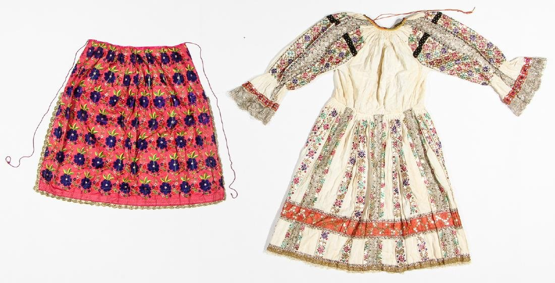 Late Ottoman Period Balkan Wedding Dress & Skirt