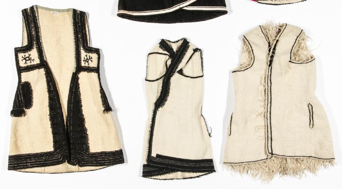 6 Old Wool & Felt Embroidered Balkan Folk Costumes - 3