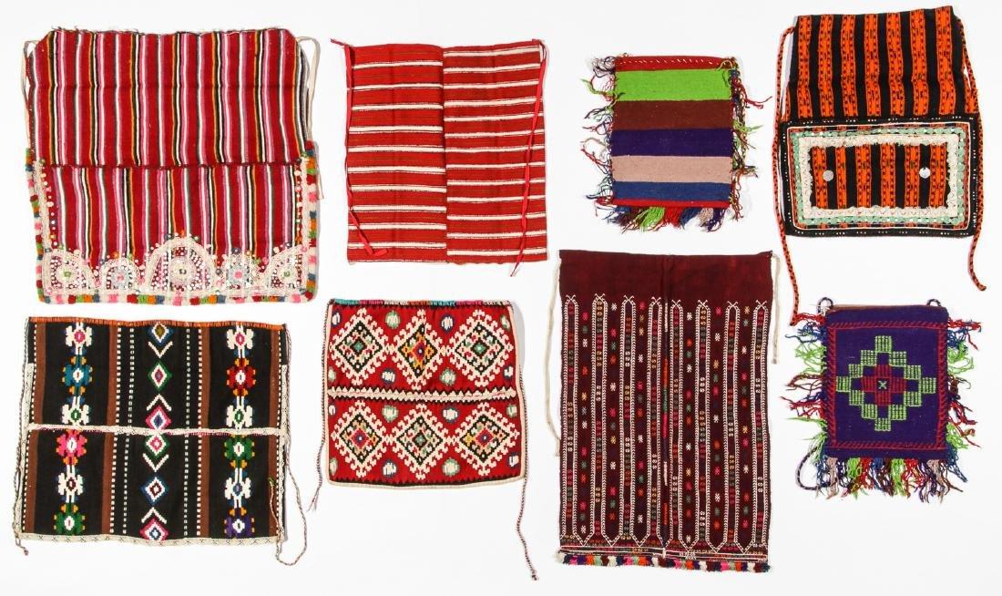 8 Vintage Handwoven Balkan/Turkish Aprons/Textiles