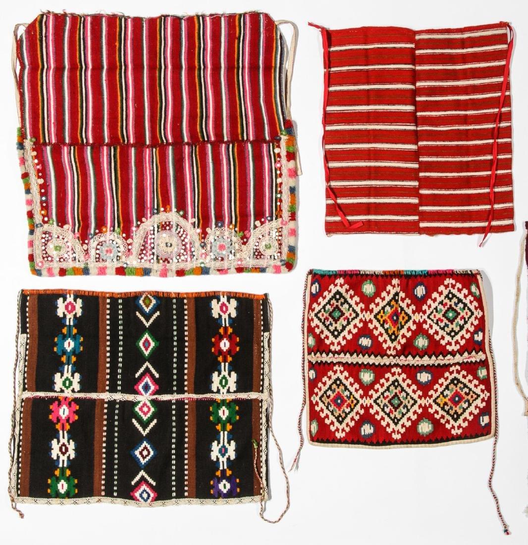 8 Vintage Handwoven Balkan/Turkish Aprons/Textiles - 2