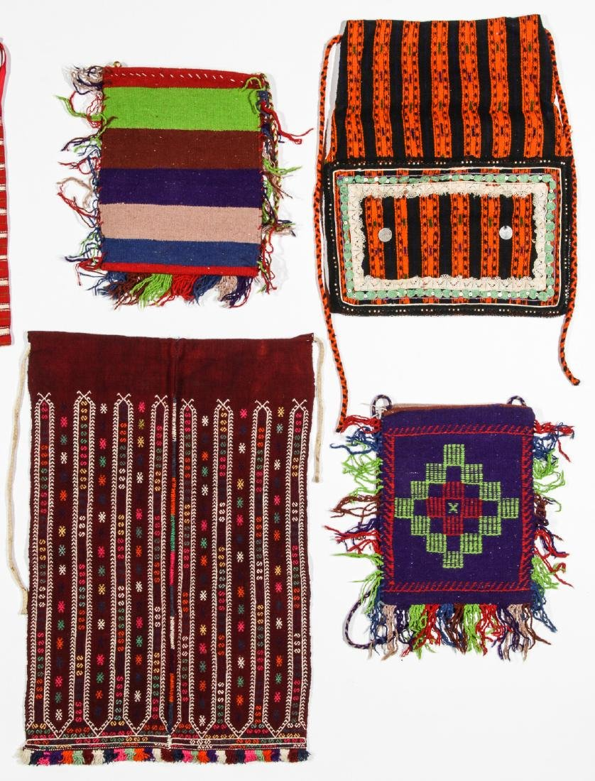 8 Vintage Handwoven Balkan/Turkish Aprons/Textiles - 3