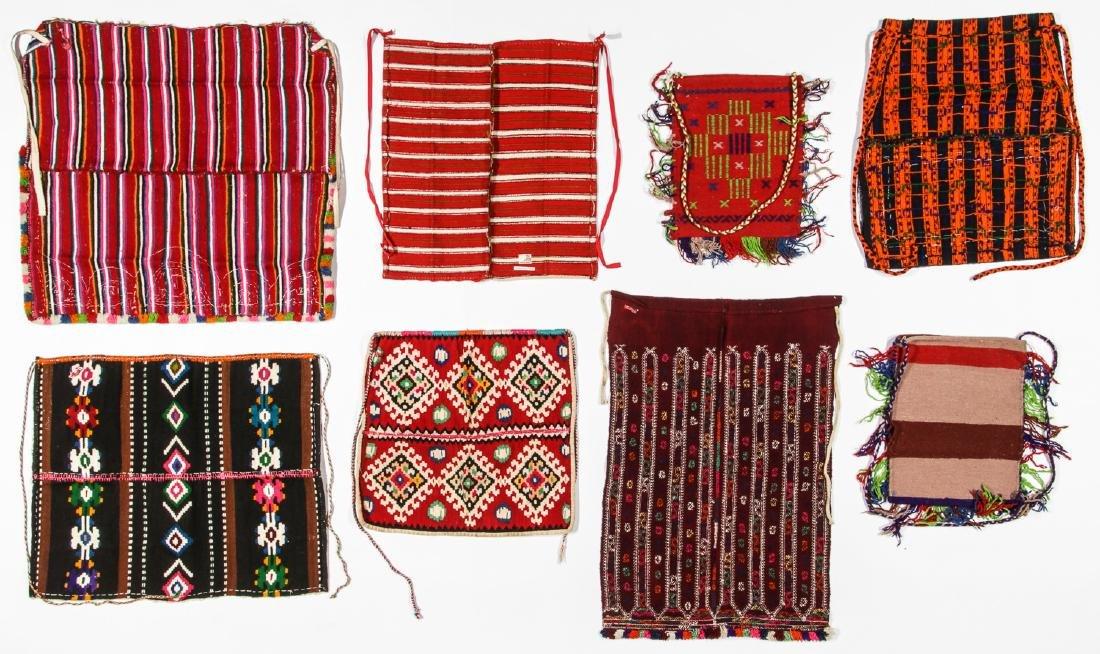 8 Vintage Handwoven Balkan/Turkish Aprons/Textiles - 4