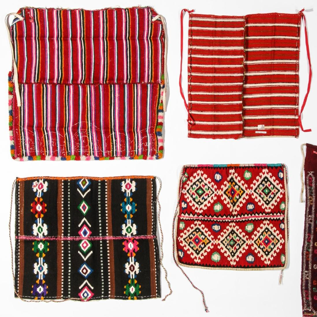 8 Vintage Handwoven Balkan/Turkish Aprons/Textiles - 5