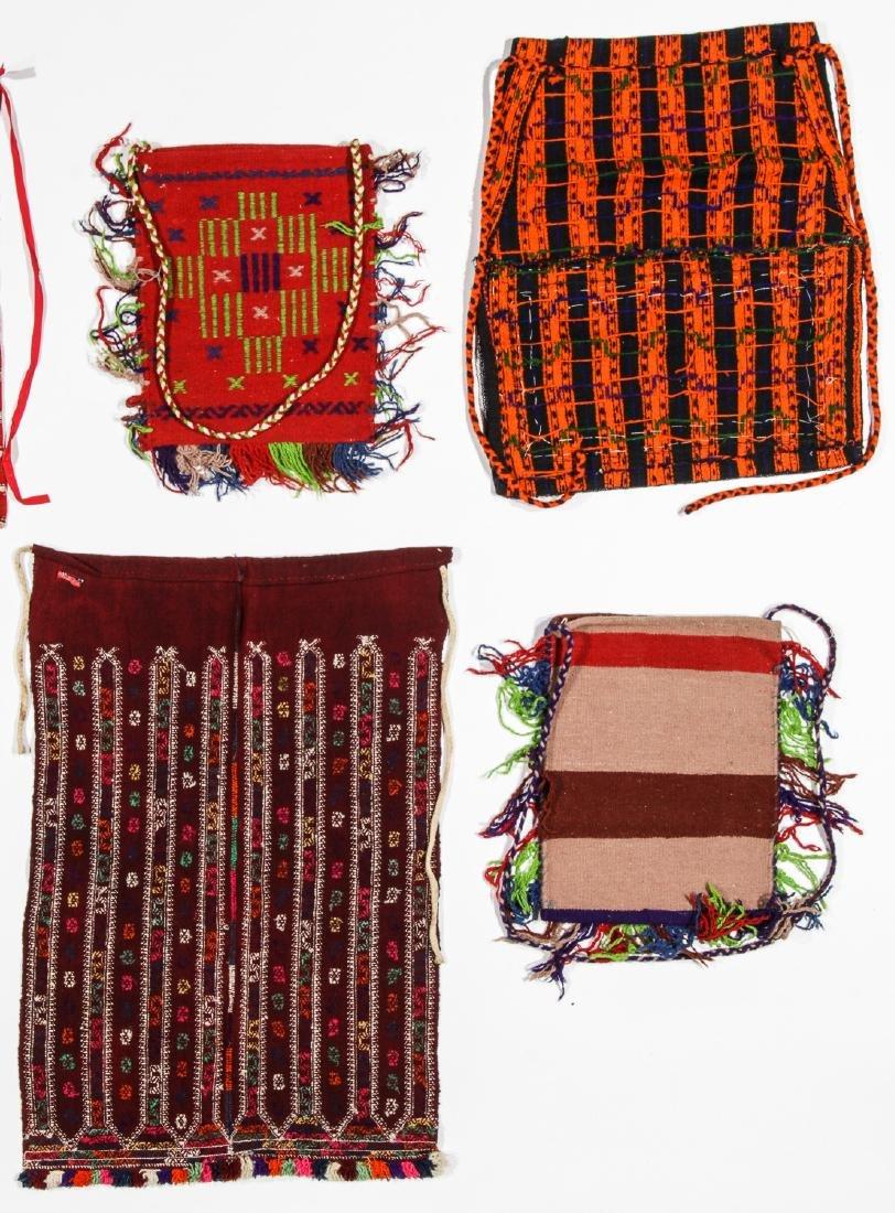 8 Vintage Handwoven Balkan/Turkish Aprons/Textiles - 6