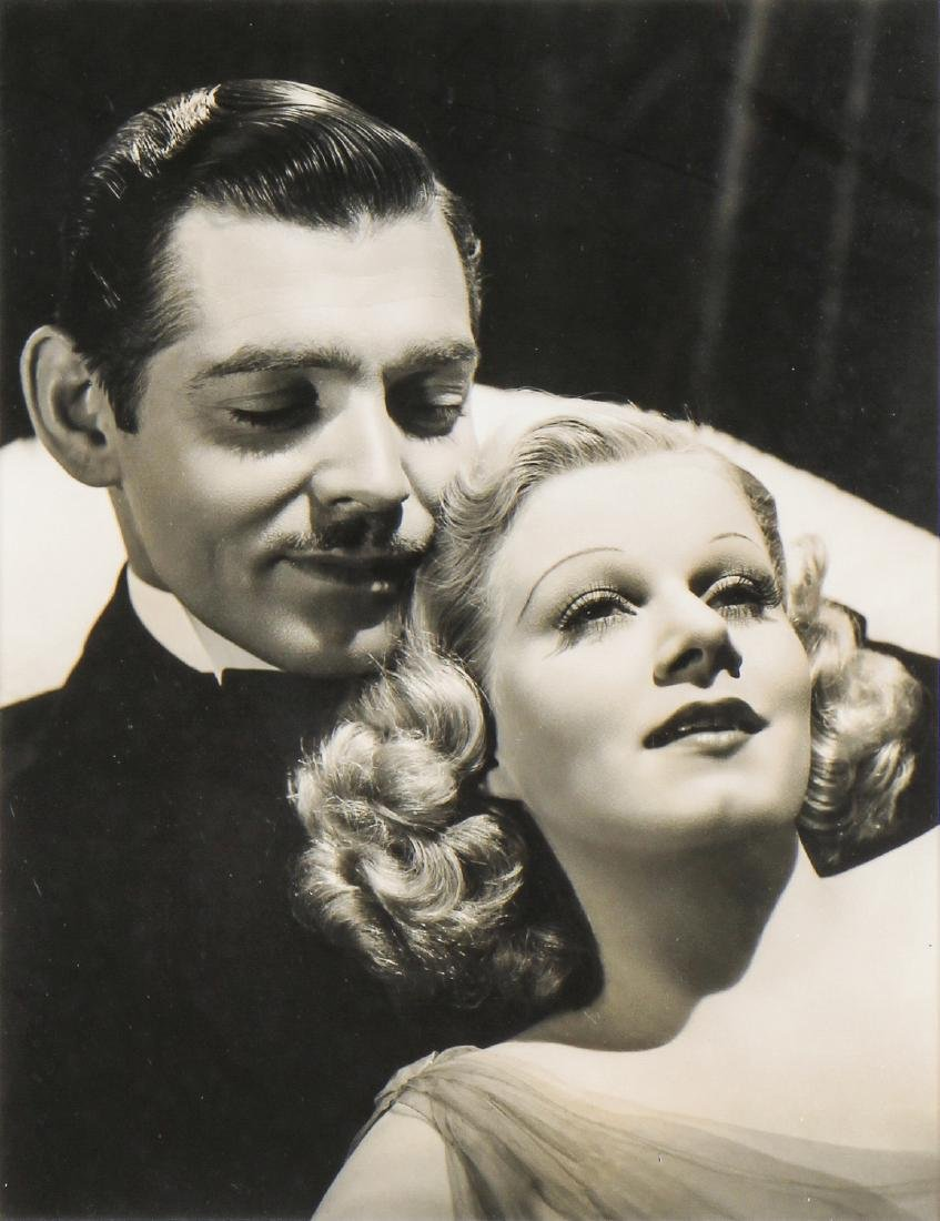 Vintage Framed Clark Gable and Jean Harlow Photo