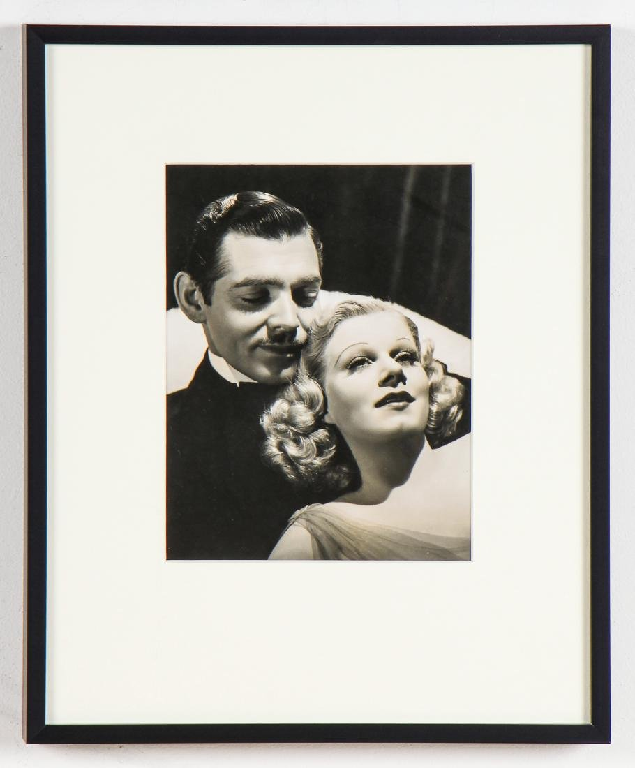 Vintage Framed Clark Gable and Jean Harlow Photo - 2