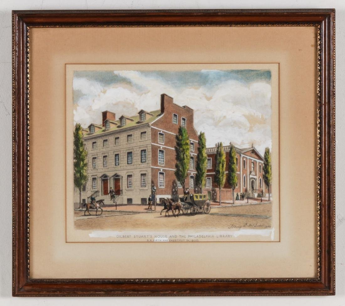 Henry B. McIntire Signed Drawing, Philadelphia Street - 2