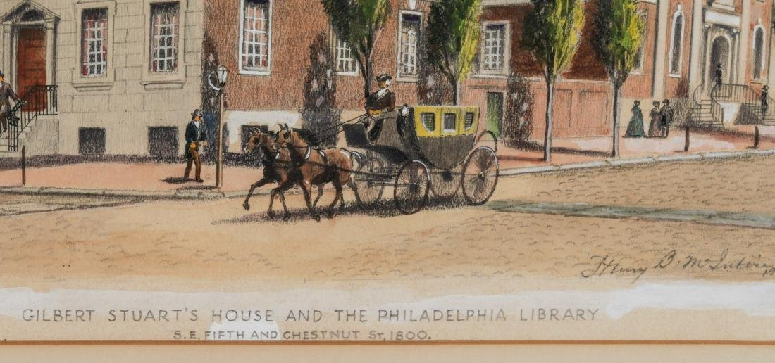 Henry B. McIntire Signed Drawing, Philadelphia Street - 3