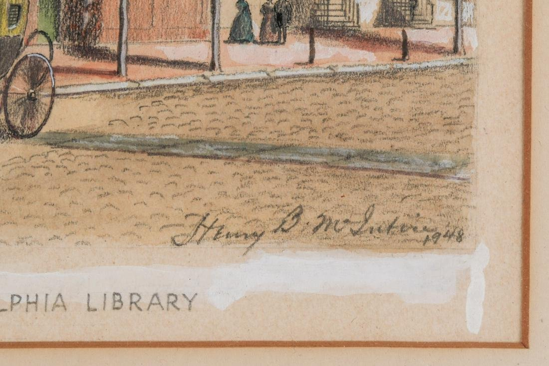 Henry B. McIntire Signed Drawing, Philadelphia Street - 4