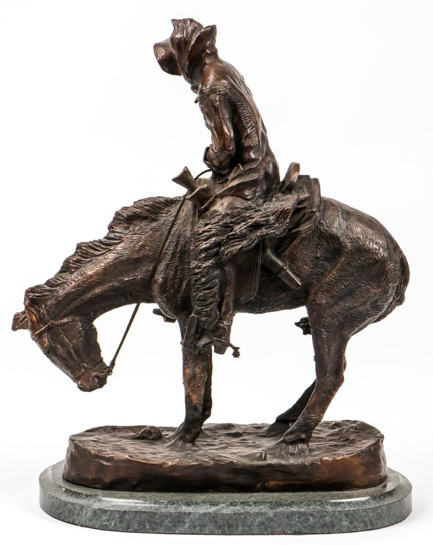 After Frederic Remington Signed Bronze Statue - 6