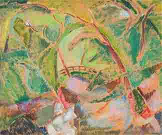 """Alfred Henry Maurer (1868-1932) """"The Bridge"""", 1916"""