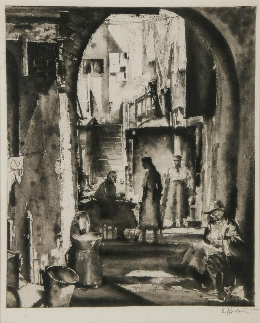 Earl Horter (American, 1881-1940) Etching