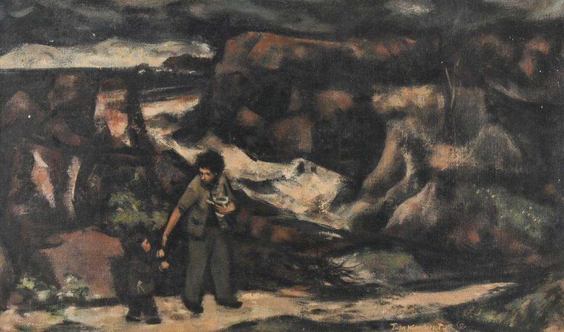 Thomas Yamamoto (American, 1917-2004) Painting on