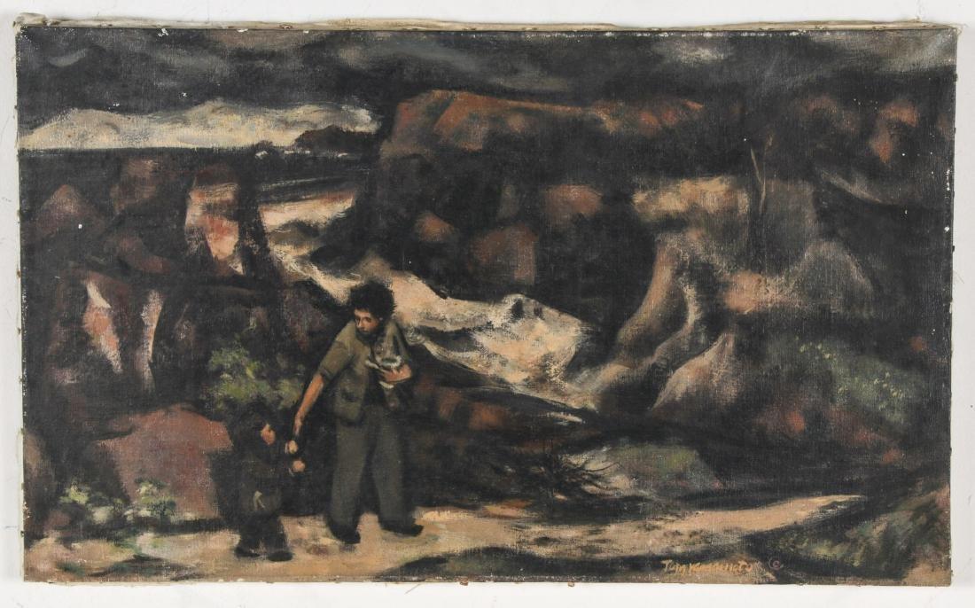 Thomas Yamamoto (American, 1917-2004) Painting on - 2