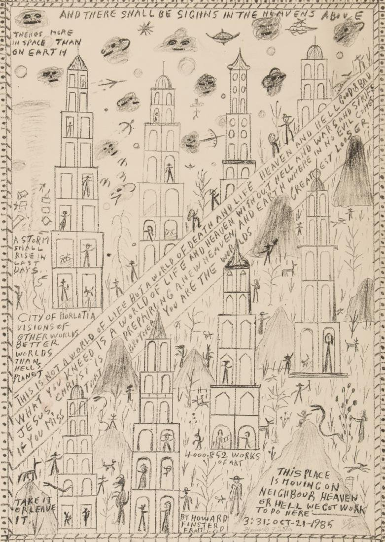 """Howard Finster (American, 1916-2001) """"There Shall be"""