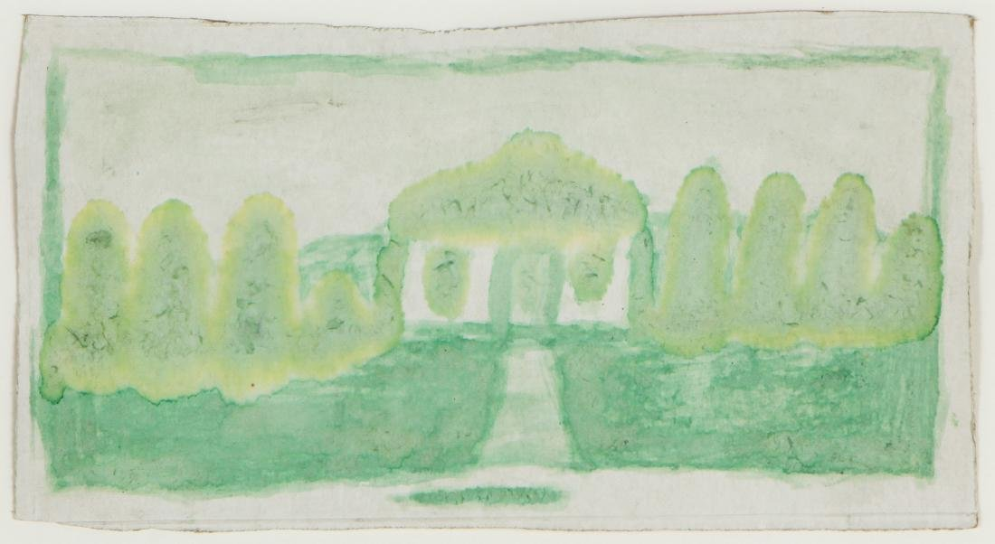James Castle (1899-1977) Untitled (Green House with