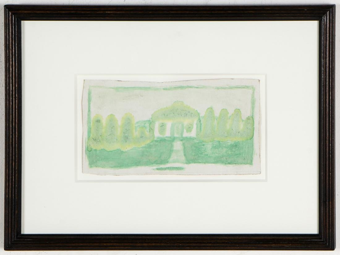 James Castle (1899-1977) Untitled (Green House with - 2