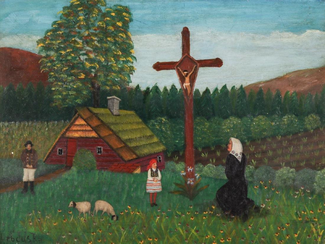 """Lawrence Lebduska (1894-1966) """"Moment of Prayer"""" - 2"""