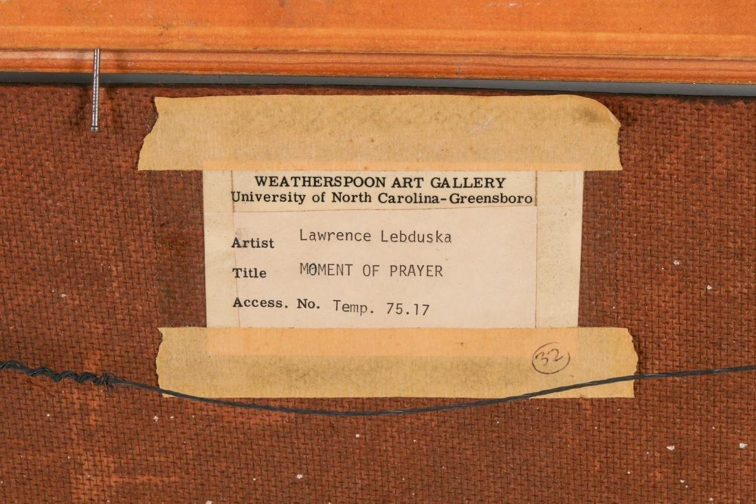 """Lawrence Lebduska (1894-1966) """"Moment of Prayer"""" - 5"""