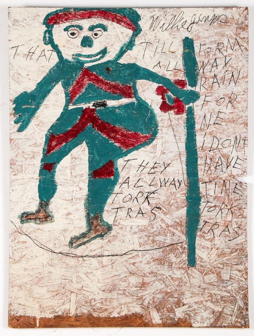 Willie Jinks (American, b. 1921) Painting on board,
