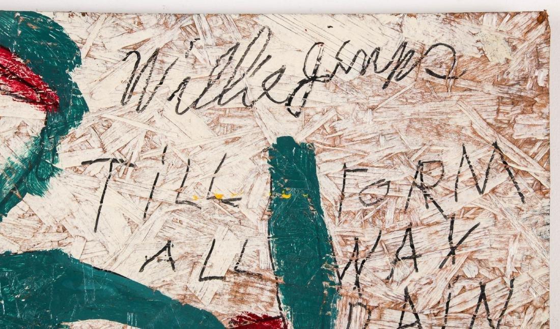 Willie Jinks (American, b. 1921) Painting on board, - 2